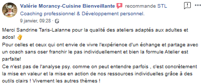 recommandations avis Sandrine Taris-Lalanne