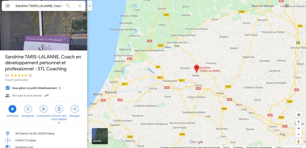 Carte de localisation STL coaching - contact & coordonnées