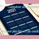 Le calendrier des événements